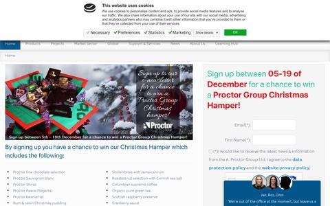 Screenshot of Signup Page proctorgroup.com - Newsletter - captured Dec. 16, 2018