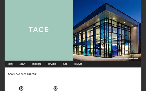 Screenshot of Case Studies Page tace.co.uk - Case Studies | TACE - captured Oct. 26, 2014