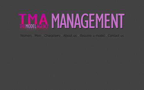 Screenshot of Home Page tma-management.co.za - The Model Agency | Editorial and television commercials - captured Oct. 6, 2014