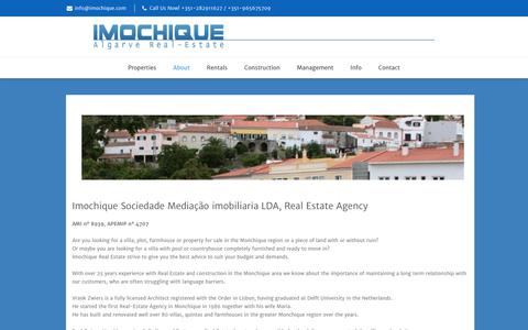 Screenshot of About Page imochique.com - Imochique - Algarve Real Estate | Imochique - captured June 7, 2017