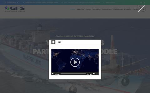 Screenshot of Home Page global-freight.net - Global Freight Systems Co. W.L.L. - captured July 12, 2017
