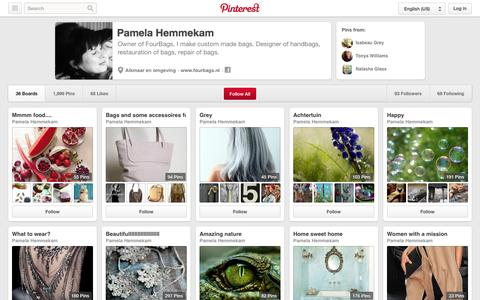 Screenshot of Pinterest Page pinterest.com - Pamela Hemmekam on Pinterest - captured Oct. 23, 2014