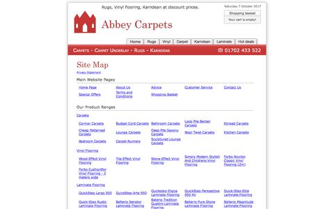 Screenshot of Site Map Page abbey-carpets.co.uk - Site Map : Abbey Carpets - captured Oct. 7, 2017