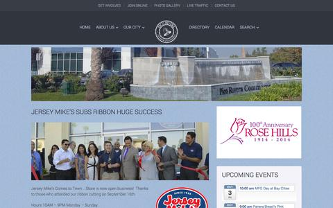 Screenshot of About Page picoriverachamber.org - Pico Rivera Chamber of Commerce - - captured Oct. 2, 2014