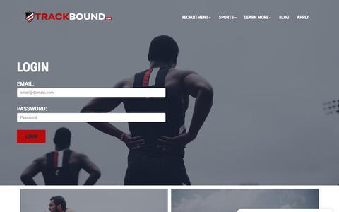 Screenshot of Login Page trackboundusa.co.uk - Login - captured Sept. 21, 2018