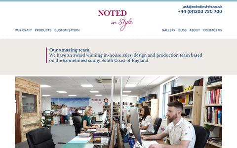 Screenshot of Team Page notedinstyle.co.uk - The team | Noted in Style - captured Sept. 19, 2018