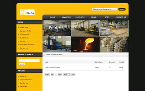 Screenshot of Jobs Page tiderparts.com - Jobs-TIDER Precision Machinery-Home - captured Oct. 26, 2014