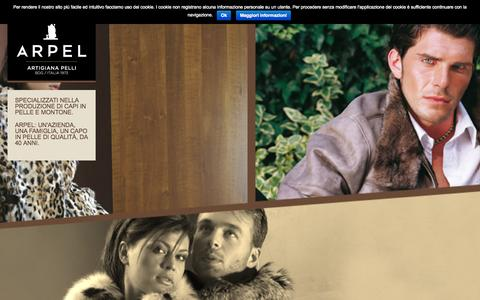 Screenshot of Home Page arpel.it - Arpel - Artigiana Pelli - Artigiana Pelli srl - captured Sept. 11, 2015