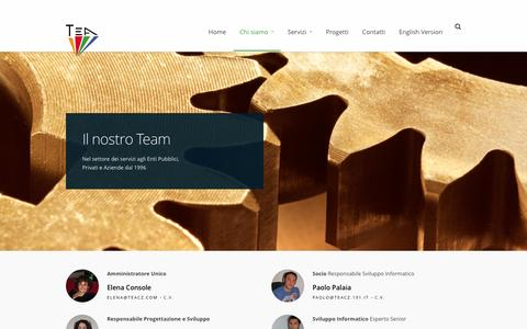 Screenshot of Team Page teacz.com - Team | TEA s.a.s. - captured Feb. 16, 2016