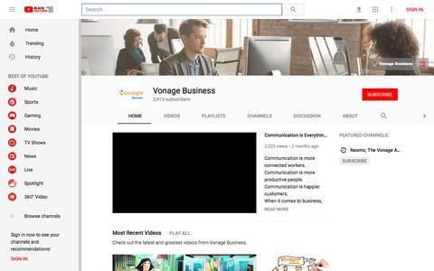 Vonage Business - YouTube - YouTube