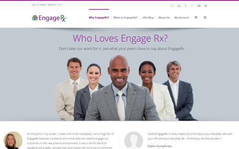 Screenshot of Testimonials Page engagerx.org - Testimonials - Engage RX - captured Nov. 2, 2014