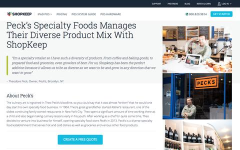 Screenshot of Case Studies Page shopkeep.com - Peck's Chooses ShopKeep for Specialty Foods Store | ShopKeep - captured Dec. 30, 2017