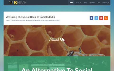 Screenshot of Home Page bhive.ca - BHIVE Social Media Labs - BHIVE Social Media Labs - captured Oct. 4, 2014
