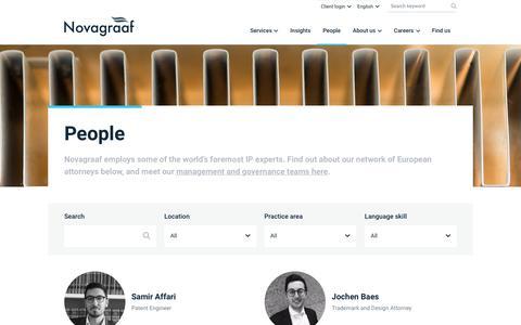 Screenshot of Team Page novagraaf.com - People | Novagraaf - captured Sept. 19, 2019