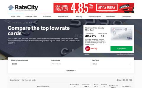 2018s Best Low Interest Credit Cards | Compare Instantly | RateCity