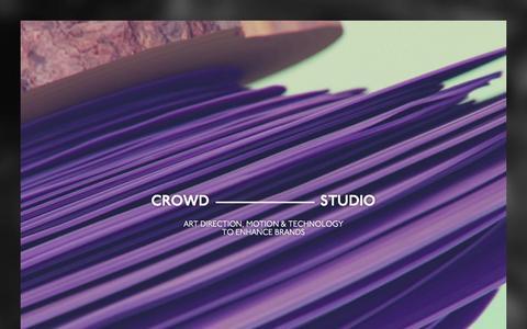 Screenshot of Home Page crowd-studio.com - CROWD - captured Jan. 26, 2015