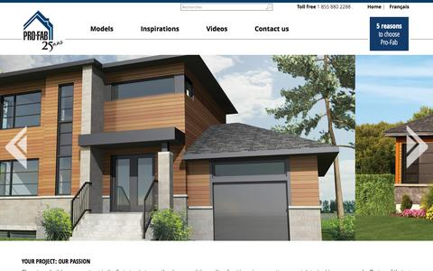 Screenshot of Support Page profab.ca - Groupe PRO-FAB inc. - captured Oct. 3, 2014