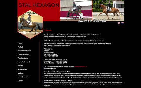 Screenshot of Contact Page stalhexagon.nl - Contact - Stal Hexagon - captured May 28, 2016