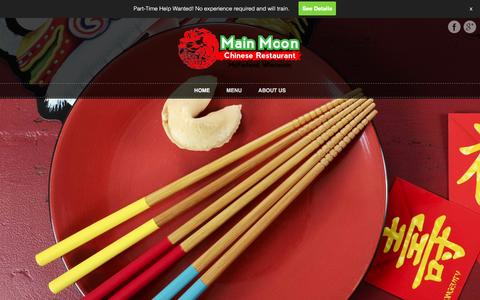 Screenshot of Home Page mainmoonrestaurant.com - Main Moon Chinese Restaurant – McFarland, Wisconsin - captured Feb. 4, 2016