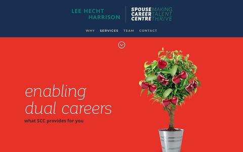Screenshot of Services Page spousecareercentre.com - Spouse Career Centre | SERVICES - captured Nov. 7, 2018