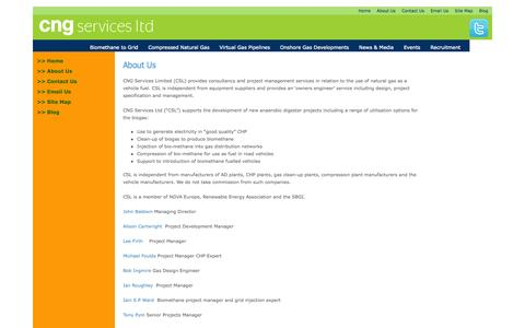 Screenshot of About Page cngservices.co.uk - About Us » CNG Services - captured Oct. 27, 2014