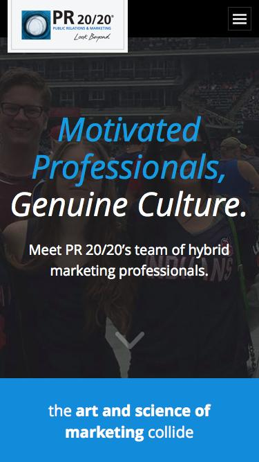 Screenshot of Team Page  pr2020.com - Meet PR 20/20's Team of Hybrid Marketing Professionals