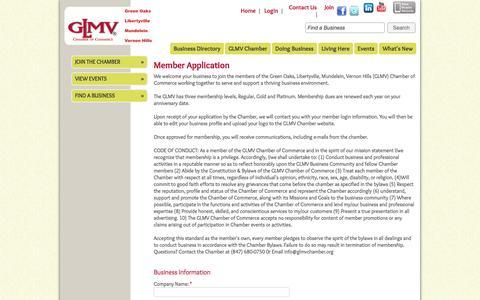Screenshot of Signup Page glmvchamber.org - Member - GLMV Chamber of Commerce - captured Oct. 1, 2014