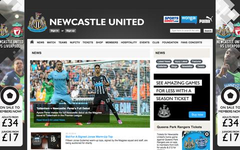 Screenshot of Press Page nufc.co.uk - Newcastle United | News - captured Oct. 26, 2014