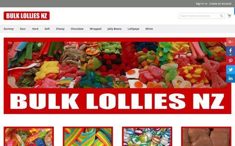Screenshot of Home Page bulklolliesnz.co.nz - Bulk Lollies NZ - Online New Zealand Confectionery | Bulk Lollies NZ - captured July 14, 2017