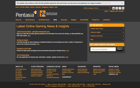 Screenshot of Press Page pentasia.com - Latest Online Gaming News & Insights   Pentasia News - captured Sept. 22, 2014