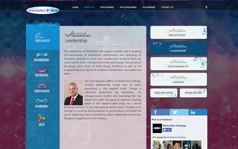 Screenshot of Team Page stretchline.com - Stretchline | Leadership - captured Oct. 7, 2014