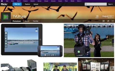 Screenshot of Flickr Page flickr.com - Flickr: TVUPack's Photostream - captured Oct. 22, 2014
