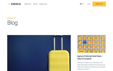 Screenshot of Blog egencia.com - Blog | Egencia - captured Jan. 17, 2018