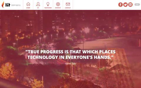 Screenshot of Home Page lit.com.uy - Bienvenidos a lit // digital agency - captured Feb. 2, 2016