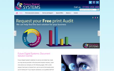 Screenshot of Home Page futuredigitalsystems.co.uk - Future Digital Systems | Managed Document Solutions, Office Printers, Multifunction Printers - captured Sept. 30, 2014