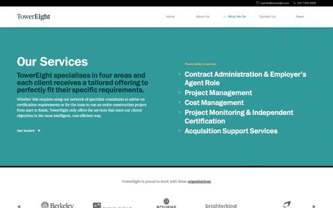 Screenshot of Services Page towereight.com - Services Archive - TowerEight - captured Feb. 19, 2018