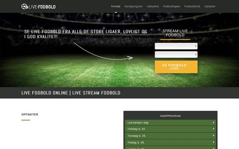 Screenshot of Home Page live-fodbold.dk - Live fodbold: Stream fodbold gratis på Live-fodbold.dk [Klik her!] - captured Oct. 23, 2018