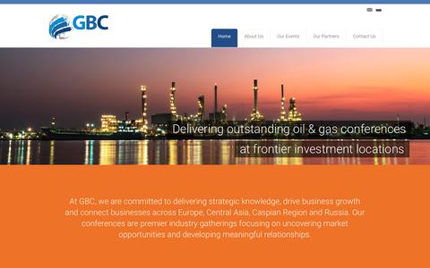 Screenshot of Home Page globuc.com - GBC | - captured Sept. 25, 2018