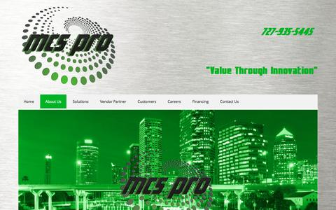 Screenshot of About Page mcs-pro.com - Tampa Technology Company   Tampa Data Center Consultant - captured Nov. 28, 2016