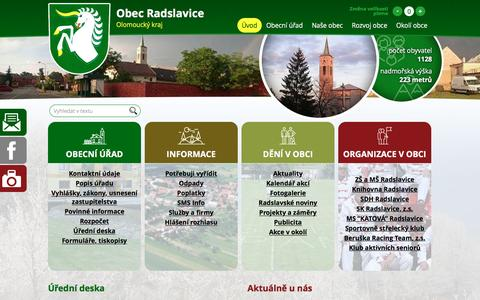 Screenshot of Home Page radslavice.cz - Radslavice | Úvodní stránka - captured Feb. 27, 2017