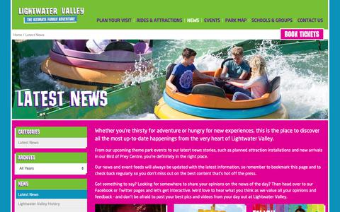 Screenshot of Press Page lightwatervalley.co.uk - Latest News at Lightwater Valley, Yorkshire - captured Sept. 28, 2018