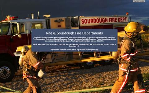 Screenshot of Home Page raesourdoughfire.com - Rae & Sourdough Fire Departments - captured Oct. 6, 2014