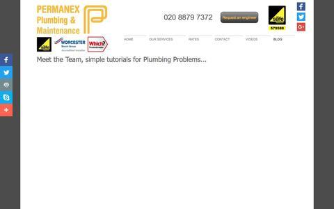 Screenshot of Blog permanex-plumbing.co.uk - Plumbing Problems - Permanex Plumbing & Maintenance Ltd - London, Uk - captured May 16, 2017