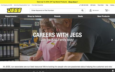 Screenshot of Jobs Page jegs.com - JEGS - captured Dec. 11, 2018