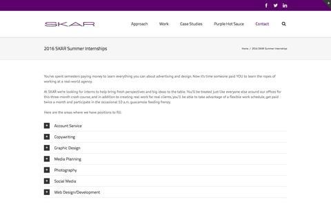 2016 SKAR Summer Internships
