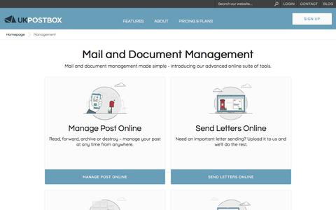 Screenshot of Team Page ukpostbox.com - Mail, Document And Record Management Services In The UK - captured Sept. 20, 2018