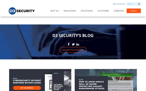 D3 Security- Cyber and IT Security Blog