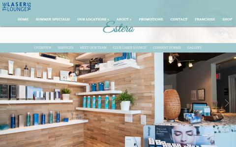 Screenshot of Locations Page thelaserloungespa.com - Estero Laser Hair Removal by The Laser Lounge Spa - captured Sept. 21, 2018