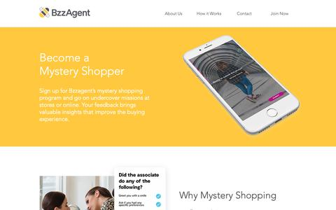 Screenshot of Home Page bzzagent.com - Bzzagent - captured May 25, 2019