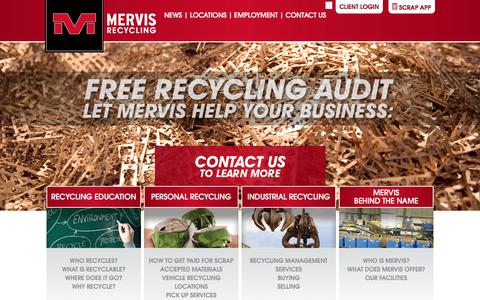 Screenshot of Home Page mervis.com - Mervis Industries - captured Oct. 6, 2014